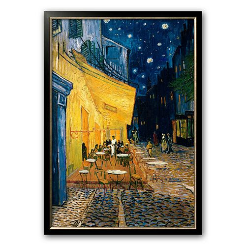 "Art.com ""The Cafe Terrace on the Place du Forum, Arles, at Night, c. 1888"" Framed Art Print by Vincent van Gogh"
