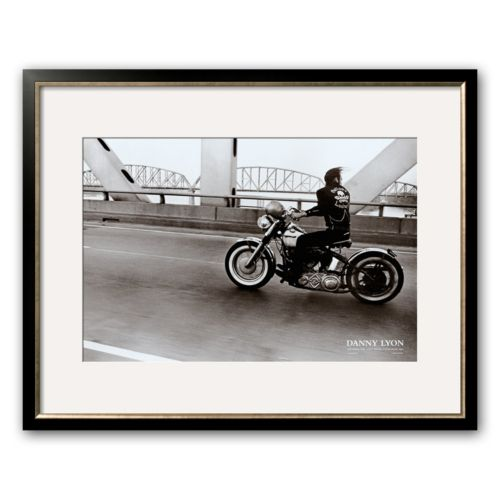 Art.com Crossing the Ohio River Framed Art Print by Danny Lyon