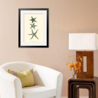 Art.com Aquamarine Starfish I Framed Art Print