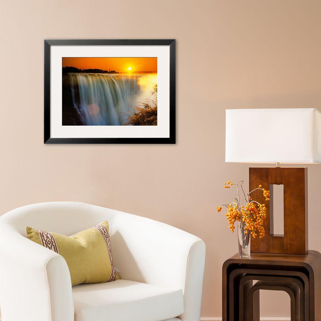 Art.com Victoria Falls - Zimbabwe Framed Art Print by Roger De La Harpe