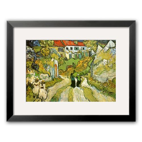 Art.com Stairway at Auvers Framed Art Print by Vincent van Gogh