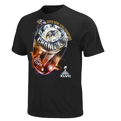 Baltimore Ravens Victory Bling Super Bowl XLVII Champions Tee - Big and Tall