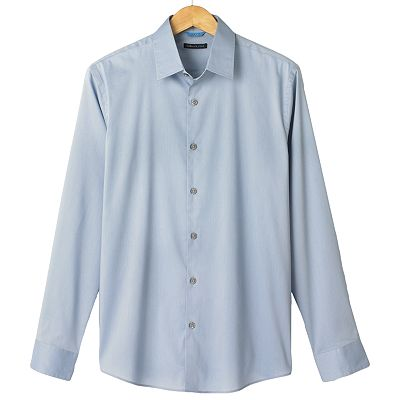 Van Heusen Studio Slim-Fit Solid Easy-Care Stretch Casual Button-Down Shirt