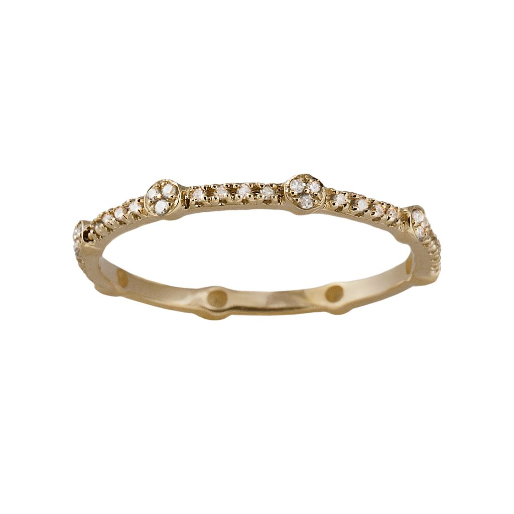 10k Gold 1/6-ct. T.W. Diamond Eternity Stack Ring