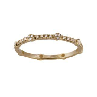 10k Gold 1/6-ct. T.W. Diamond Eternity Stack Ring