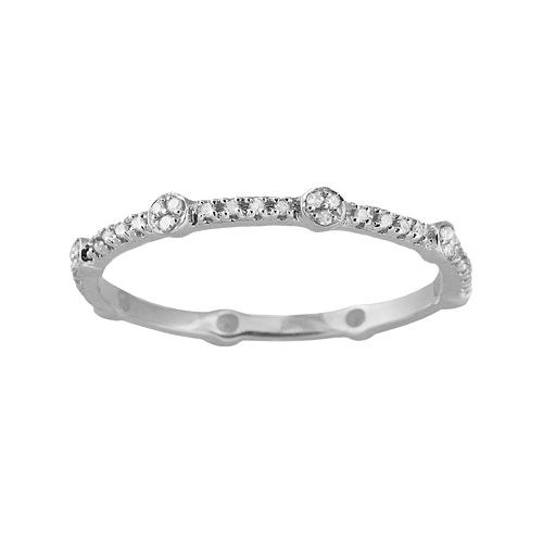 10k White Gold 1/6-ct. T.W. Diamond Eternity Stack Ring