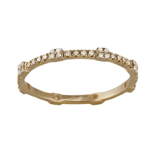 10k Gold .22-ct. T.W. Diamond Eternity Stack Ring