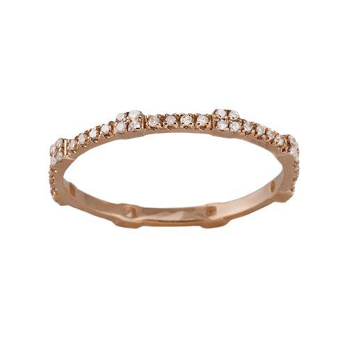 10k Rose Gold .22-ct. T.W. Diamond Eternity Stack Ring
