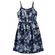 Mudd Floral Chambray Dress - Girls 7-16