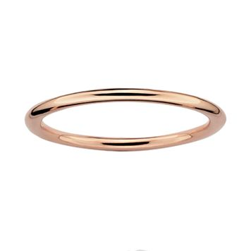Stacks & Stones 18k Rose Gold Over Silver Stack Ring