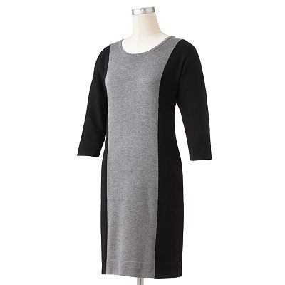 Apt. 9 Colorblock Sweaterdress