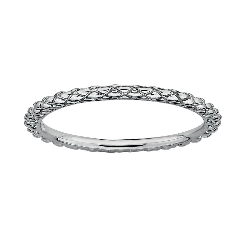 Stacks & Stones Sterling Silver Crisscross Stack Ring