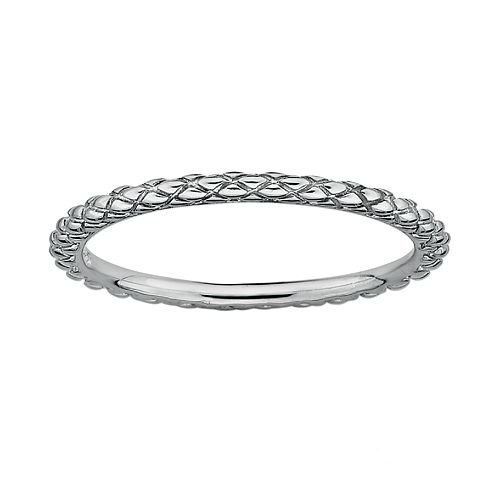 Stacks & Stones Sterling Silver Crisscross Stack Ring