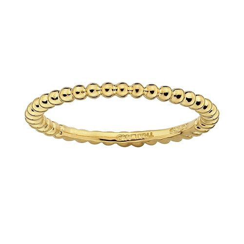 Stacks & Stones 18k Gold Over Silver Bead Stack Ring