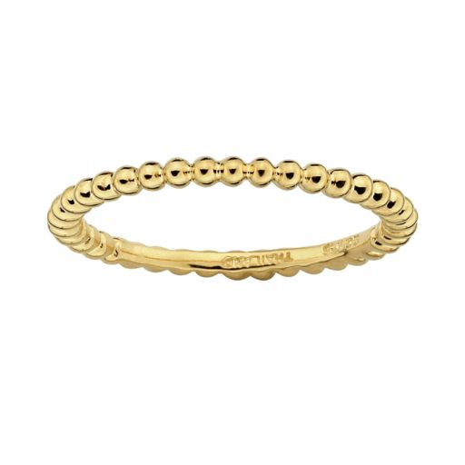Stacks and Stones 18k Gold Over Silver Bead Stack Ring