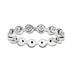 Stacks & Stones Sterling Silver Diamond Accent Stack Ring