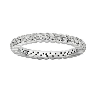 Stacks and Stones Sterling Silver 1/6-ct. T.W. Diamond Stack Ring