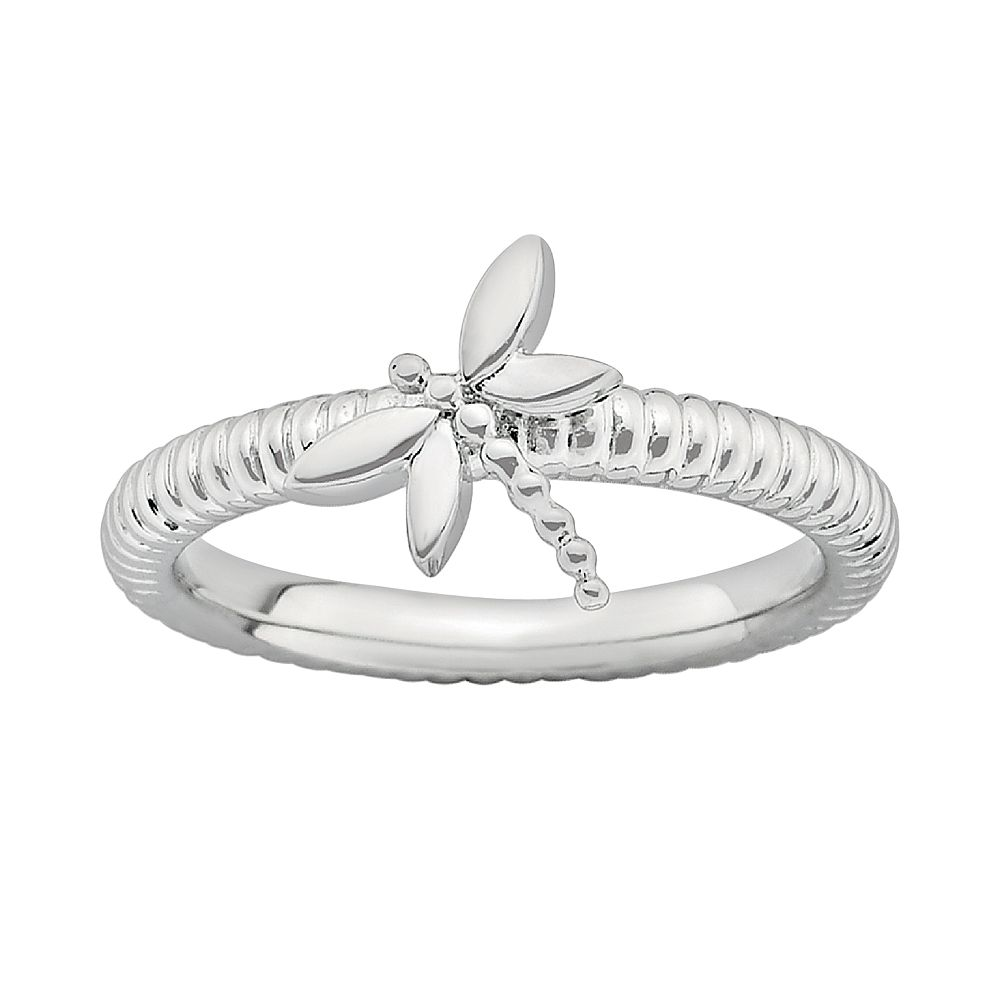 Stacks & Stones Sterling Silver Dragonfly Stack Ring