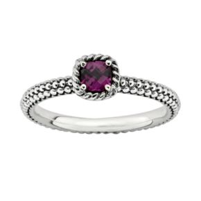 Stacks and Stones Sterling Silver Rhodolite Garnet Stack Ring