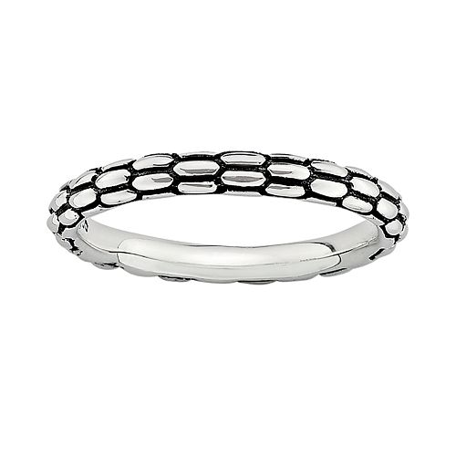 Stacks & Stones Sterling Silver Textured Stack Ring