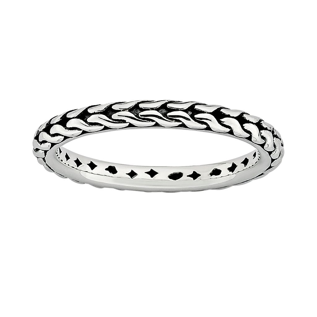 Stacks & Stones Sterling Silver Braided Stack Ring