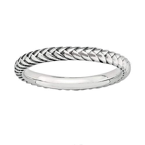 Stacks & Stones Sterling Silver Wheat Stack Ring