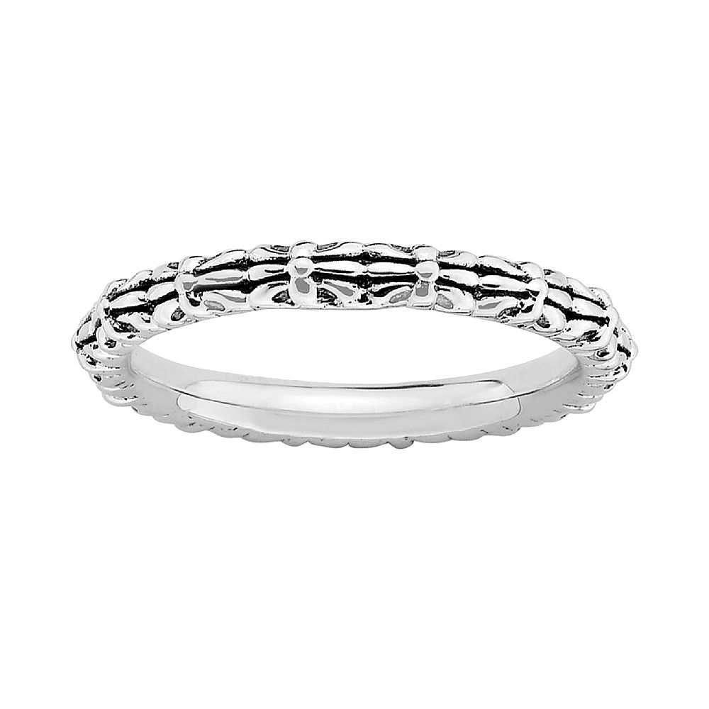 Stacks & Stones Sterling Silver Fleur-de-Lis Flower Stack Ring