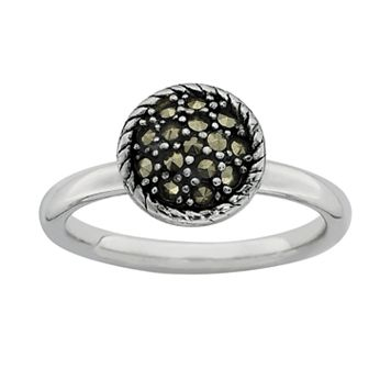 Stacks & Stones Sterling Silver Marcasite Stack Ring