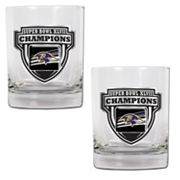Baltimore Ravens Super Bowl XLVII Champions 2-pc. Rocks Glass Set