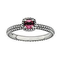 Stacks & Stones Sterling Silver Pink Tourmaline Stack Ring