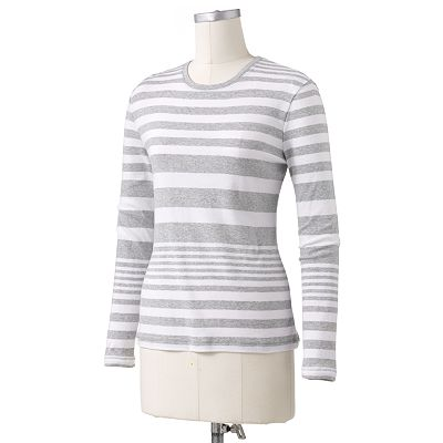 SONOMA life + style Essential Striped Tee - Petite