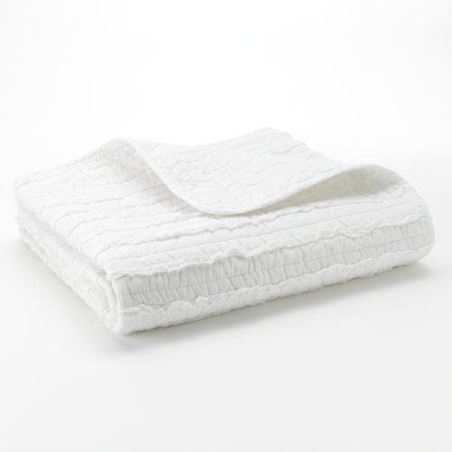 Ruffled Quilted Throw