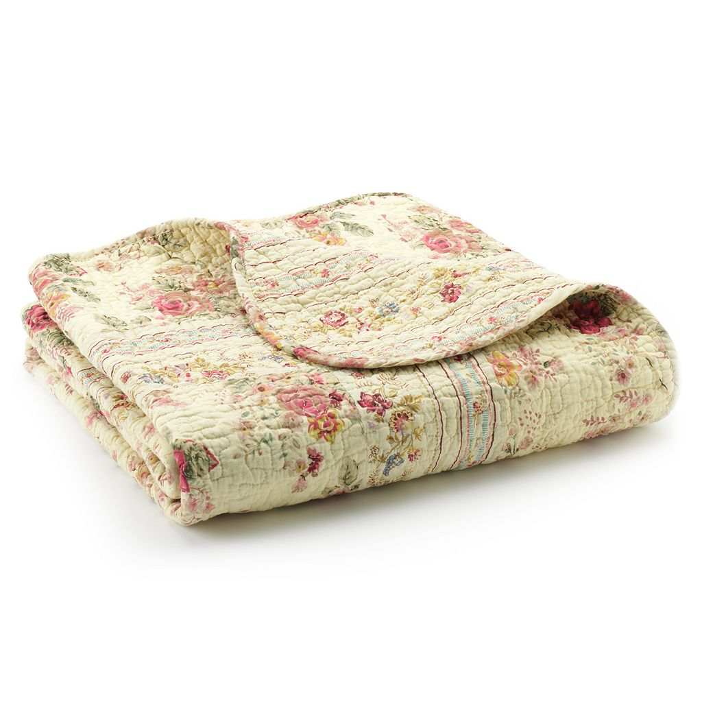 Antique Rose Reversible Quilted Throw