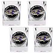 Baltimore Ravens Super Bowl XLVII Champions 4-pc. Shot Glass Set