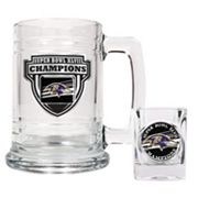 Baltimore Ravens Super Bowl XLVII Champions 2-pc. Mug and Shot Glass Set