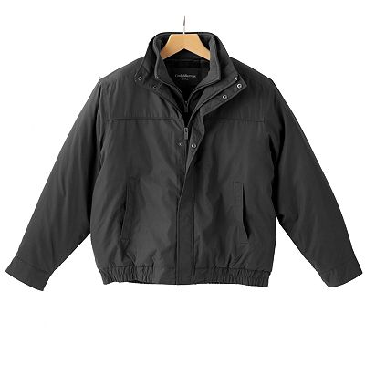 Croft and Barrow Bibbed Microfiber Bomber Jacket - Men