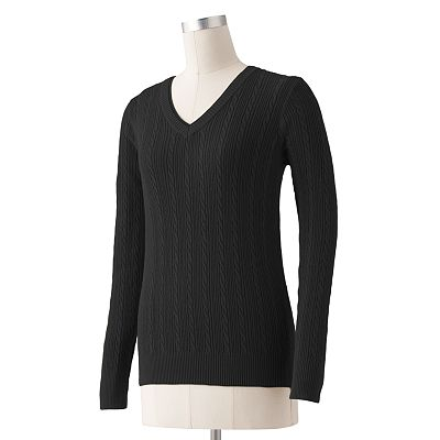 SONOMA life + style Cable-Knit Sweater