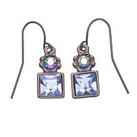 1928® Simulated Sapphire Drop Earrings