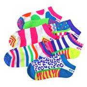 Crocs 6-pk. Colorblock No-Show Socks - Girls