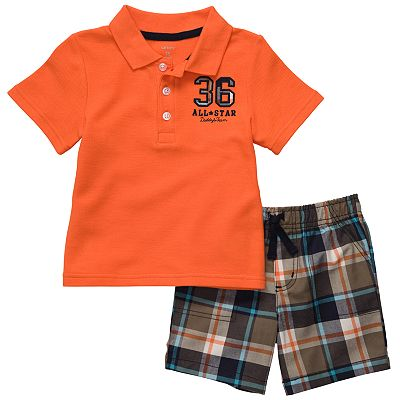 Carter's Polo and Plaid Shorts Set - Toddler