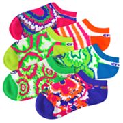 Crocs 6-pk. Tie-Dye No-Show Socks - Girls