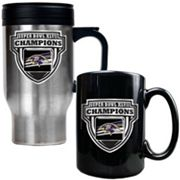 Baltimore Ravens Super Bowl XLVII Champions 2-pc. Travel Mug and Ceramic Mug Set