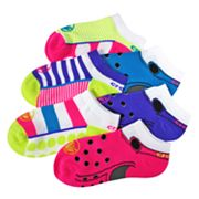 Crocs 6-pk. Patterned No-Show Socks - Girls