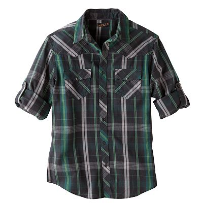 Helix Plaid Flannel Western Shirt