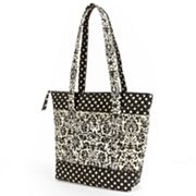 Lily Waters Tara Floral and Dotted Quilted Tote