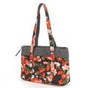 Lily Waters Jodi Floral and Dotted Quilted Tote