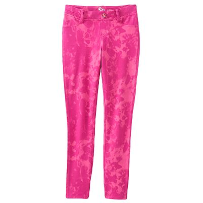 SO Tie-Dye Knit Skinny Jeggings - Girls Plus