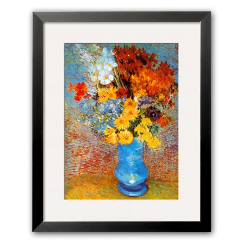 Art.com Vase of Flowers, c.1887 Black Framed Art Print by Vincent van Gogh