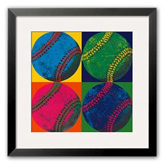 Art.com 'Ball Four: Baseball' Medium Framed Art Print