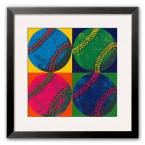 "Art.com ""Ball Four: Baseball"" Medium Framed Art Print"